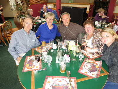 OK, Sunday brunch nearby with Bill and Linda Fields, and their lovely daughter Stacey.