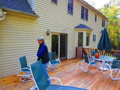 Dan's best friend, lover and wife, Jo Ann, on their back deck.