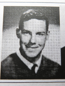 """Dan's graduation photo, captured from the 2011 """"50th Reunion Memory Book."""""""