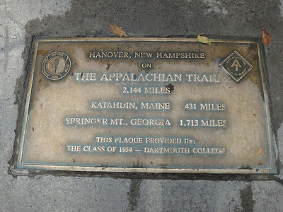 Who would have guessed that the Appalachian Trail crosses Dartmouth. [I have been atop both terminal peaks - and now midway.]