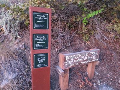 Passing over a segment of the Bonneville Shoreline Trail.