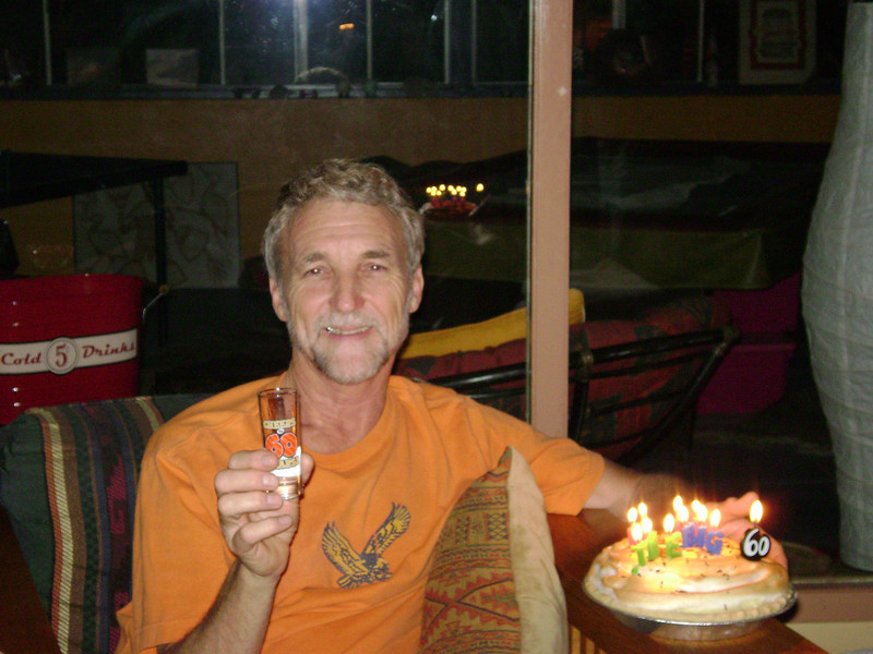 Mid-July: Chris is celebrating is BIG 60th (hard to believe) Birthday at home in Riverside.