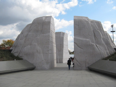 Rear of MLK Memorial.