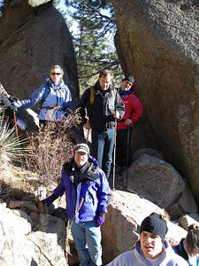 Split Rock - hey, we're one-third the way there: a gnarly crew.