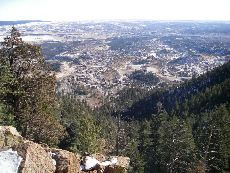 View from Look Out Rock: half-way there now.   Can you still see the Jones' home, from whence we started?