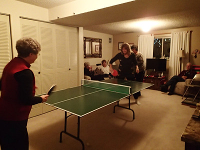 The ping pong queens going at it.