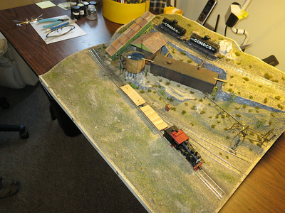 Simulating a real train location in the CA mtns.