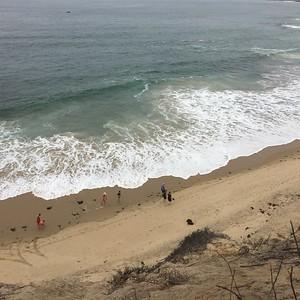 A training hike along the beach.