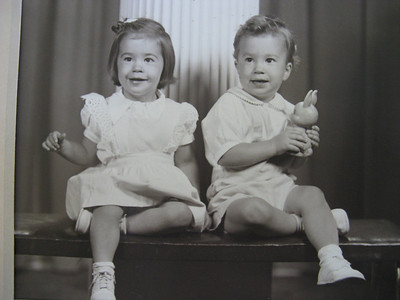 ... like the guy on the right! [Mike with his twin sister.]