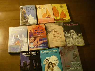 Glen's collection of books by Adrienne Jones, Dick's spouse.