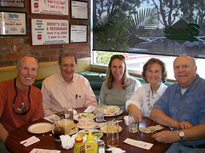 Power Lunch at Brent's in Chatsworth. L-R: Bill, John Ripley, Sara Danta, Maureen & Bob Cates.