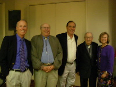 This photo isn't usable.     I'm hoping the Cates or someone has a better image! L-R: Bill, Bob Cates, Denny Kruska, Glen and Maureen Cates.