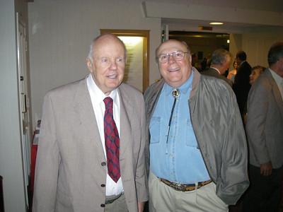 John Robinson with Bob Cates.