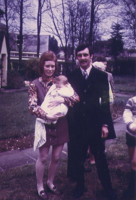 Mum, Dad & Me at my Christening