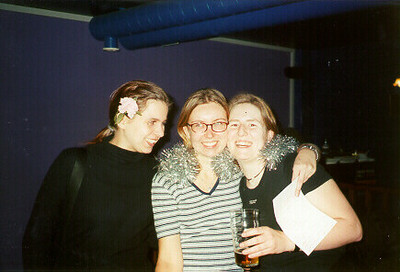 Denise, Gosha, & Claudia -- Tampere, Finland 1999.  I don't know the exact photo dates; sometime between Sept and Dec 1999.  Photos of the friends I studied with inTampere Finland at the Technical University of Tampere.