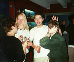 Ida, Veerle, Juan, & Sergio -- Tampere, Finland  -- Tampere, Finland 1999.  I don't know the exact photo dates; sometime between Sept and Dec 1999.  Photos of the friends I studied with inTampere Finland at the Technical University of Tampere.