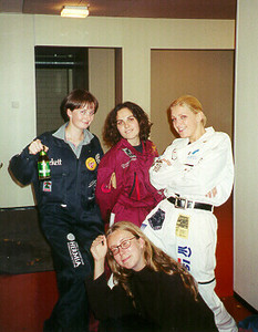 Ola, Maria, Nina, & Gosha going to 1st Boomari -- Tampere, Finland 1999.  I don't know the exact photo dates; sometime between Sept and Dec 1999.  Photos of the friends I studied with inTampere Finland at the Technical University of Tampere.