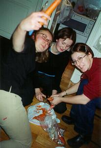 Ola, Mirelle, & Gosha with carrots, Paris