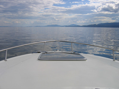 Perfect day for boating. I've never seen Flathead this smooth and glassy! So cool to see this big lake shimmering like that.