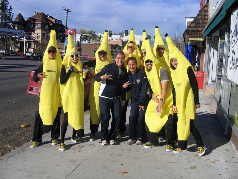 A bunch of bananas at the board shop.