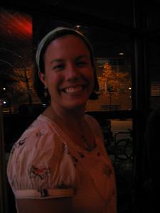 Mrs. Heidi Vanecek, she does the smiling for the couple!