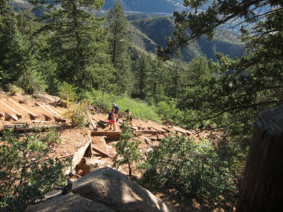 Where the Barr Trail touches The Incline.