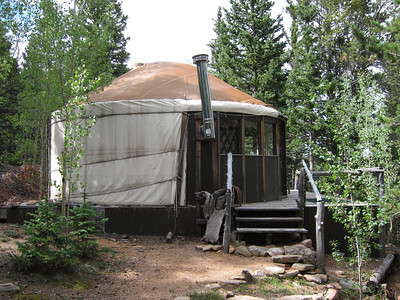 Yurt sometimes used by Neal & Teresa, the camp hosts.