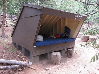 Bill's Lean-to - much cooler and gnarlier than sleeping in the bunkhouse.