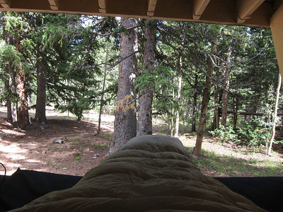 View from Bill's splendid Lean-to.