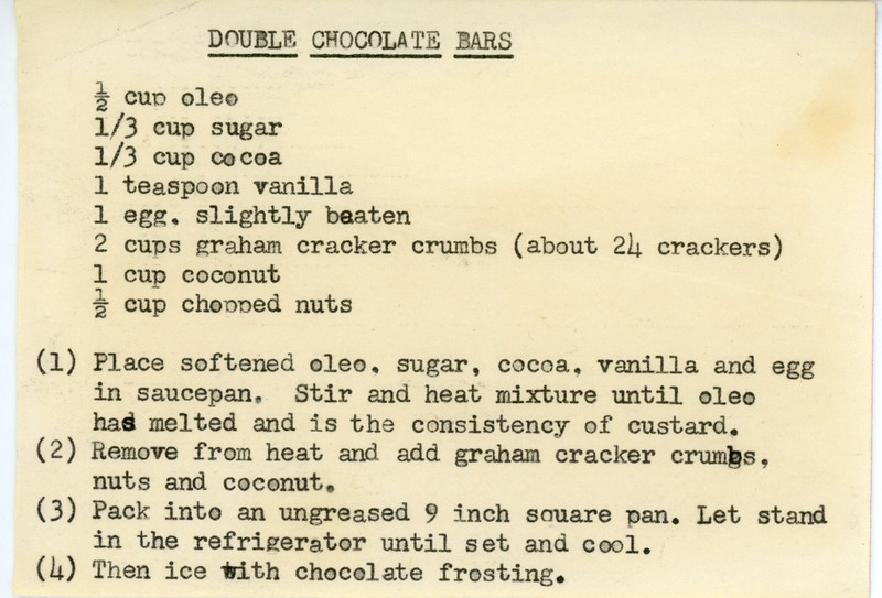 Double Chocolate Bars
