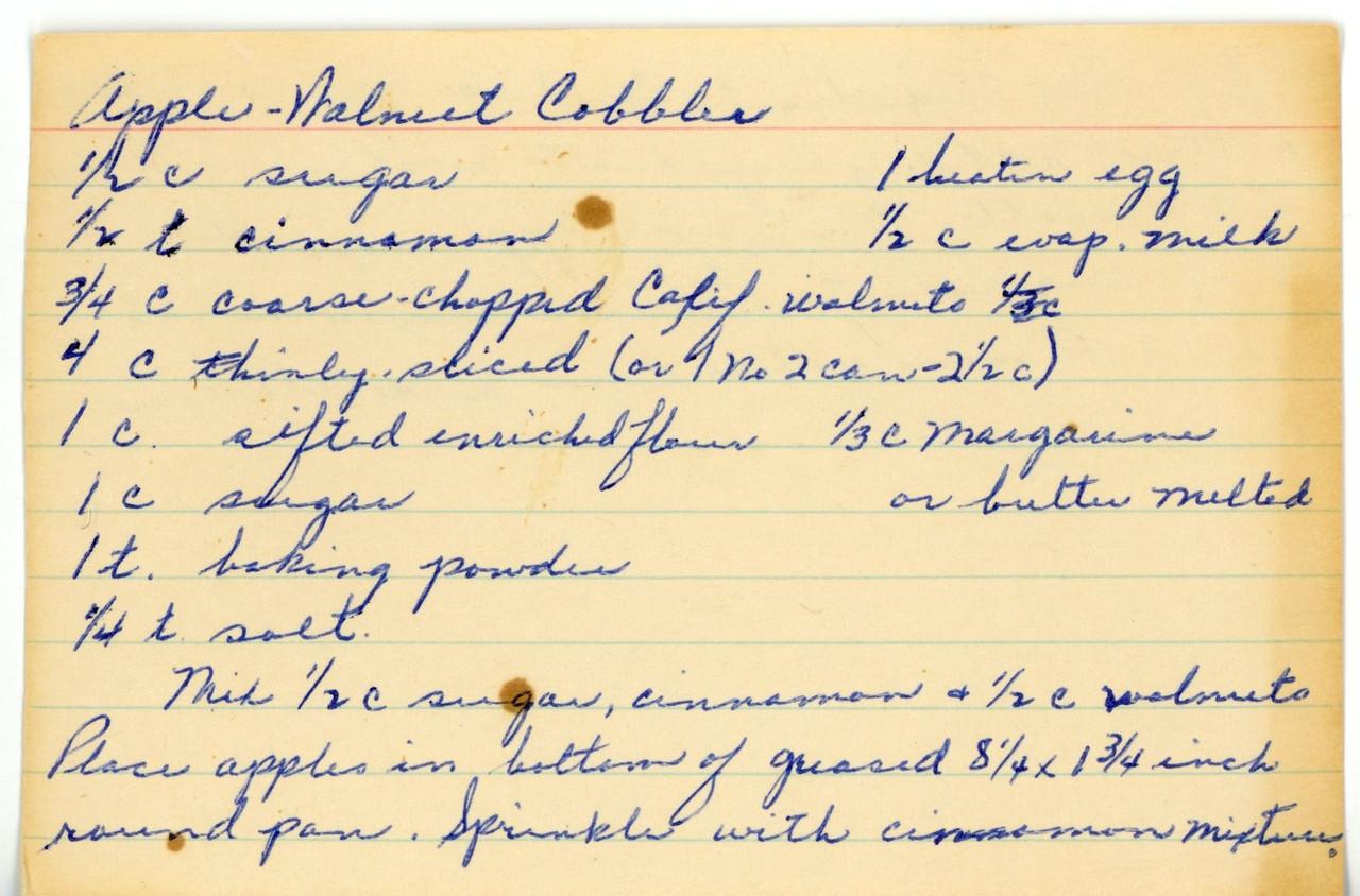 Apple-Walnut Cobbler 1