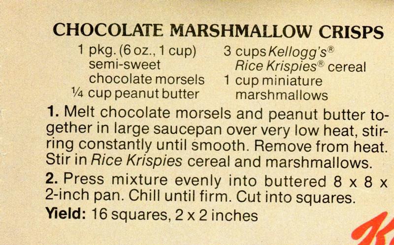 Chocolate Marshmalow Crisps