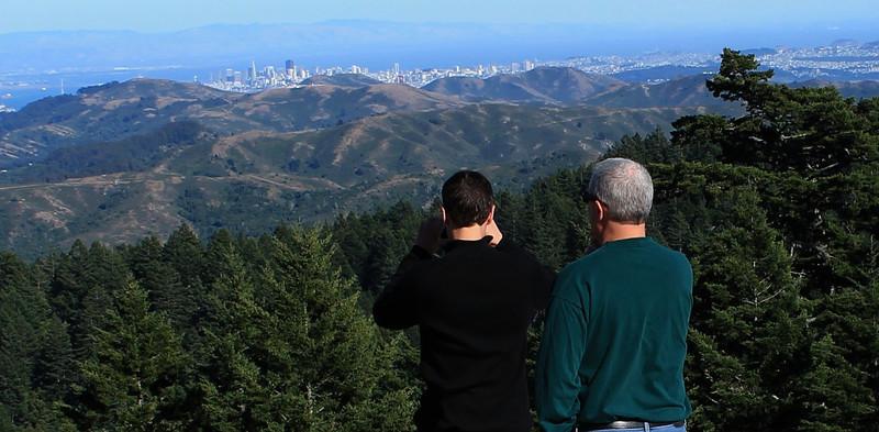 Overlooking San Francisco, from Mount Tamalpais