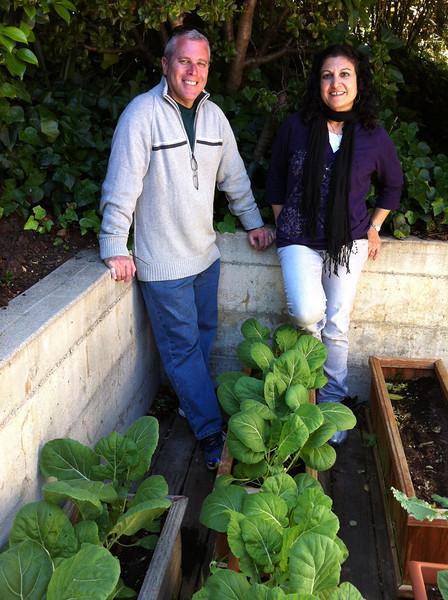 In Howard's collards garden