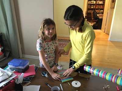 Coach Eva on how to wrap a birthday gift.