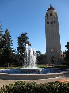 The Hoover Tower on Stanford campus.