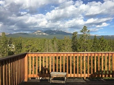 From the deck - I believe Clare will be riding those mountains on Saturday.