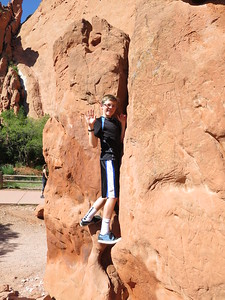OK, Monday, June 8th - Clare and the kids (plus the Irwin Family) checking out again some climbing at Garden of the Gods park in Colorado Springs.