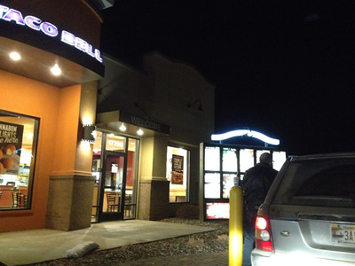 Uh oh - the infamous Taco Bell run.