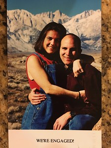 Found - a rare early shot of the dating teenage couple. .. They first met on Mt. Whitney (behind).