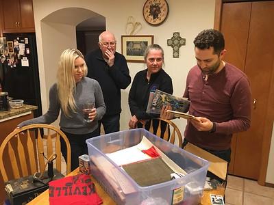 Max rambling through an old box of youthful memorabilia.