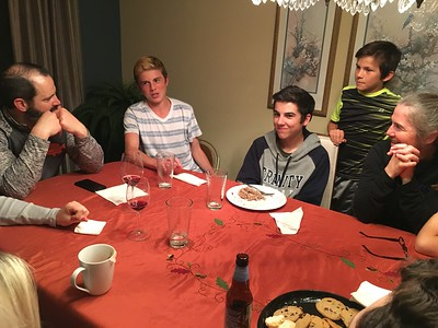 This year Colin & Shane got promoted to the grown-ups table. .. They fit right in.