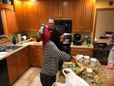 Barry and Adriana are handling tonight's fantastic dinner.