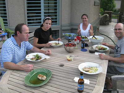 Thursday, 6/14, at Brian and Ann's beautiful home in Littleton, a suburb S of Denver.