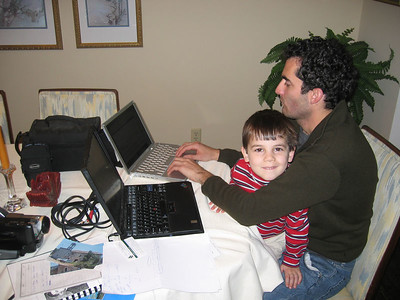 Still hard at work on his Tale from Lebanon, edited by Colin.