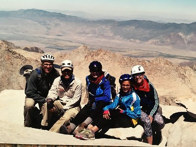 On the summit, Tuesday 8/9/16 - Lou, Bill, Lara, Eva & Clare.