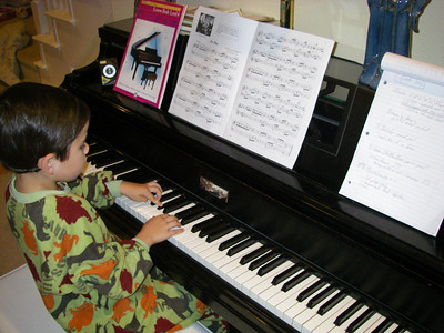 Young Mozart at work.