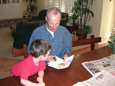 Grownups seem more comfortable with scissors (not that Uncle Bill has grownup yet).
