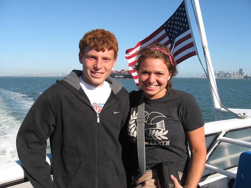 Jonathan & Sara on Ferry to Sausalito