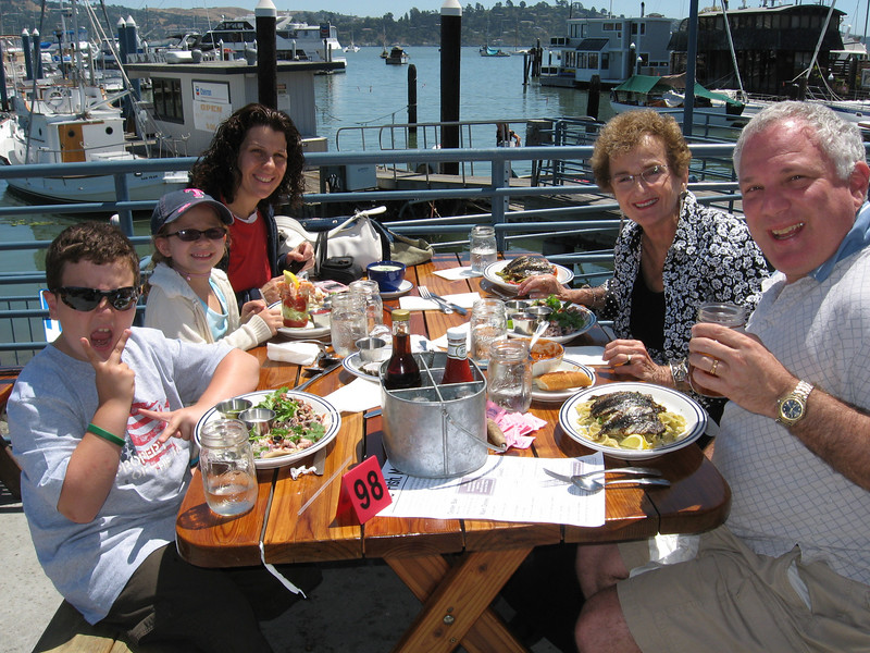 Ezra, Rebecca, Ruth, & Ben at Fish. Sausalito.